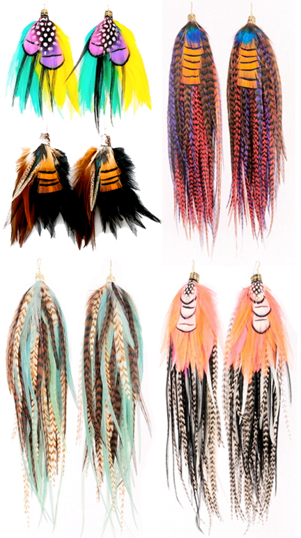 Owlita Feather Earrings