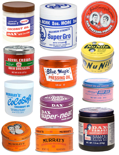 vintage Black Hair hair grease and pomade