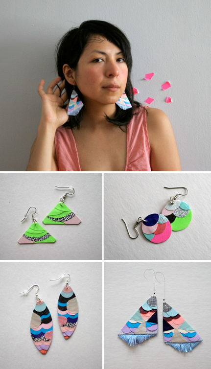 Essimar Paper Earrings