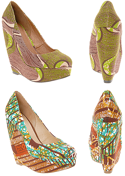 Wax Print Wedges