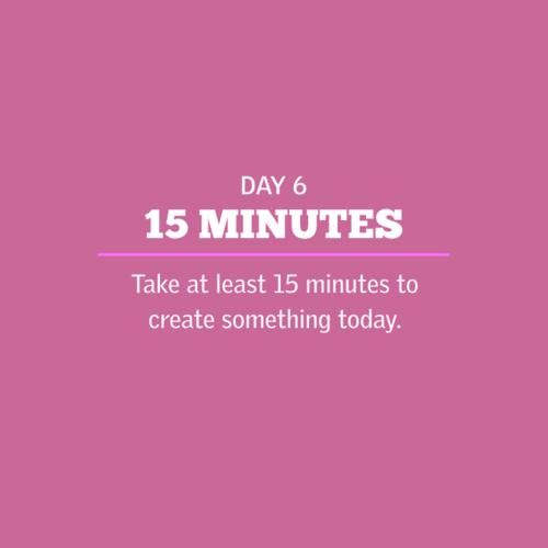 Creative Challenge Day 6