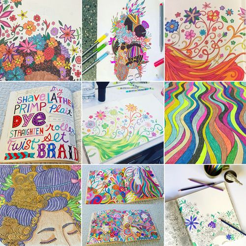 Im Having So Much Fun Seeing How People Are Coloring The Pages Of I Love My Hair On Instagram Have You Been In Book