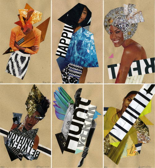 Andrea Pippins Collages on Etsy