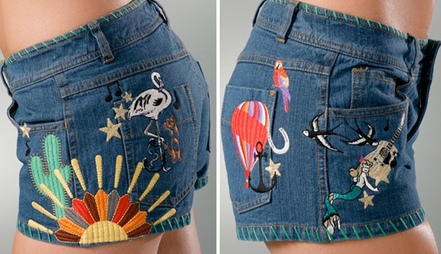 More embroidered shorts - Fly 880ce374710c